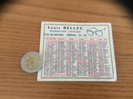Calendrier 1965 «Louis BELLEC PHARMACIEN OPTICIEN LANDIVISIAU (29) » - Calendars