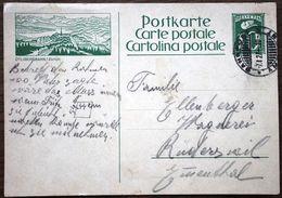 Schweiz Suisse 1927: Bild-PK ÜETLIBERGBAHN / ZÜRICH Mit O AMBULANT 7.I.27 Nach Rüderswil - Interi Postali