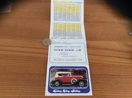 """Calendrier 1978 (4 Volets) """"blons-morel Ploudalmézeau (29) / Durant 1931 Voiture Ancienne"""" - Calendars"""
