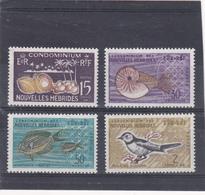 Nouvelles Hébrides Neuf *  1963  N° 203/206        Coprah, Nautilus, Acanthunus, Neolalage - Neufs
