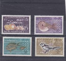 Nouvelles Hébrides Neuf *  1963  N° 207/210        Coprah, Nautilus, Acanthunus, Neolalage - Neufs