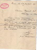 VP12.877 - Lettre - Commission & Représentation - Bois - J. PATY à PARIS Rue Richard - Lenoir - 1900 – 1949