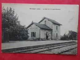 Saint Léger  ( Aube ) - Gare De St Léger-Moussey - Jolie Carte Circulée 1933 - - France
