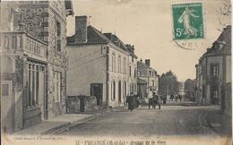 Carte Postale Ancienne De Pouancé Avenue De La Gare - France