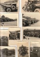 Lot De 10 Photos - Années 50 -  Matériel Militaire  Jeep Camion Tracteur - Scan R/V - Guerre, Militaire