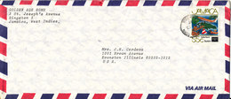 Jamaica Air Mail Cover Sent To USA 13-8-1987 Single Franked MAP Stamp - Jamaica (1962-...)