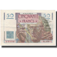 France, 50 Francs, 50 F 1946-1951 ''Le Verrier'', 1950-08-24, SUP - 1871-1952 Circulated During XXth