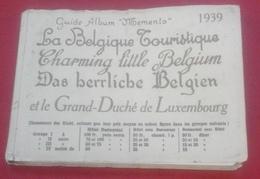 Guide Album Mémento 1939 Belgique Touristique Et Luxembourg Littoral Ostende Knocke Le Zoute Blankenberghe Bruges... - Dépliants Touristiques