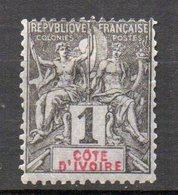 Col10 / Cote D'ivoire : N° 1  Neuf X MH , Cote : 2,50 € - Ongebruikt