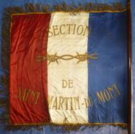 Beau Drapeau A.C.P.G. De L'AIN Section Saint-Martin Du Mont Anciens Combattants Et Prisonniers De Guerre 01 - Drapeaux
