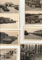 Lot De 10 Photos - Années 50 -  Matériel Militaire  Jeep Camion  - Scan R/V - Guerre, Militaire