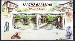 TURKEY, 2018, MNH, HISTORICAL BAZAARS, CLOTHES, SHEETLET - Cultures