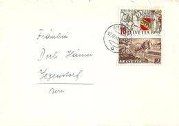 Brief  Ambulant -  Jegenstorf  (Mischfrankatur)        1941 - Svizzera