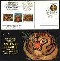 ITALIA - MARCOFILIA - 23.6.1984 - ANNULLO ANTONIO LIGABUE - MOSTRA ANTOLOGICA - 6. 1946-.. Repubblica
