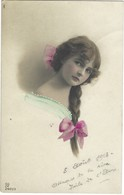Carte Photo Jeune Femme - Coiffure - Fantaisie 1918 - Femmes