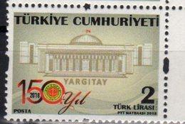 TURKEY, 2018, MNH, JUSTICE, SUPREME COURT, 1v - Stamps