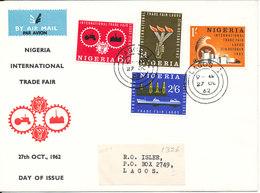 Nigeria FDC 27-10-1962 Nigeria International Trade Fair Complete Set Of 4 With Cachet - Nigeria (1961-...)