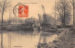 55-FAINS-L'ECLUSE ET LE PONT-LEVIS - VOIR PENICHE - Francia