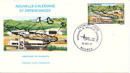 New Caledonia FDC 22-10-1977 Magenta Airport With Cachet - FDC