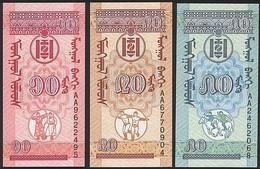 Mongolia SET - 10 20 50 Mongo 1993 - UNC - Mongolia