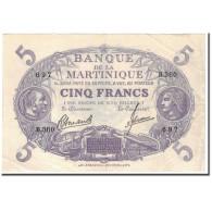 Martinique, 5 Francs, 1945, SUP, KM:6 - Autres