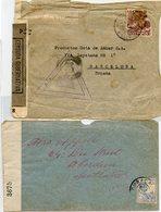 CURAÇAO TWO COVERS  (TO SCOTLAND AND SPAIN) WWII. CENSORMARKS - Curaçao, Antilles Neérlandaises, Aruba
