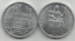 Frencs Polynesia 2 Francs 1965. High Grade - French Polynesia