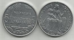 Frencs Polynesia 5 Francs 1994. High Grade - French Polynesia