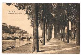 CPA : NAMUR - La Citadelle Et La Meuse , Pont De Jambes Et Boulevard De La Meuse, Ameublement Thirionet ?, Femme Landau - Namur