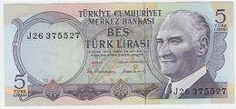 Turkey P 185 - 5 Lira 1976 - UNC - Turchia