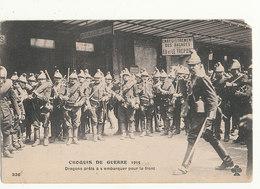 CROQUIS DE GUERRE DRAGONS PRETS A S EMBARQUER POUR LE FRONT GUERRE DE 1914 - Oorlog 1914-18