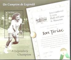Romania  2015 Ian Tiriac Tennis Player S/S - Unused Stamps