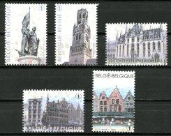 BE   4285 - 4289    XX   ---   La Grand'Place De Bruges  --  Timbres Du Bloc BL203 - Belgique