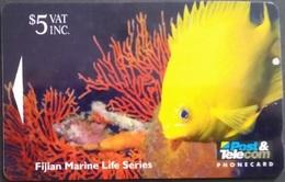Telefonkarte Fiji - Fidschi - Unterwasserwelt - Golden Damsel Fish - 10FJC - Fiji