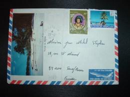 LETTRE Illustrée Paysage De Moorea TP CASE AU TUAMOTU 6F + ROI POMARE 1er 18F OBL.28-12 1979 PEPEETE RP ILE TAHITI - Polynésie Française