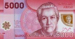 CHILE 2012, 5.000 PESOS, POLIMERO, P-163c, SC-UNC - Chile