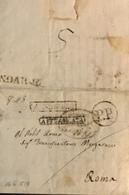 1819 SANSEVERINO P.P. E AFFRANCATA PER ROMA - Italy