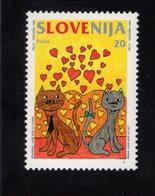 628768627 SLOVENIA 1995 ** MNH SCOTT 222 LOVE CATS - Slovénie