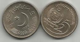 Pakistan 10 Rupees 1998. KM#61 25th Anniversary Of The Senate - Pakistan