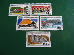 POLYNESIE YVERT POSTE ORDINAIRE N° 72/76 NEUFS** LUXE COTE 51,00 E - Unused Stamps