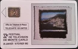 Telefonkarte Monaco - Festival De Television - 120 Units - Aufl. 30000 - 01/92 - Monaco