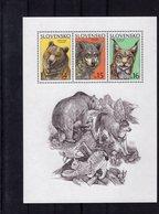 6287771915 SLOVAKIA 2001 ** MNH SCOTT 381 WILD ANIMALS URSUS ARCTOS - CABUS LUPUS - LYNX - Slovénie