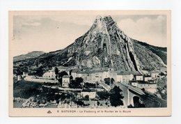 - CPA SISTERON (04) - Le Faubourg Et Le Rocher De La Baune - Photo CAP N° 8 - - Sisteron