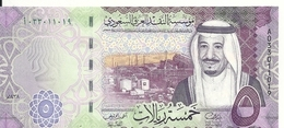 ARABIE SAOUDITE 5 RIYALS 2016 UNC P 38 - Arabie Saoudite