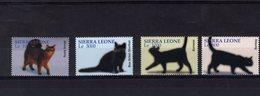 628778722 SIERRA LEONE 2004 ** MNH SCOTT 2688 2689 2690 2691 DOMESTIC CATS - Sierra Leone (1961-...)