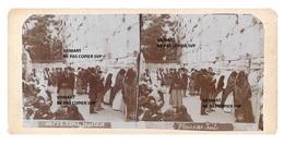 Originale Photo Stéréo  C 1900 Palestine - Judaica , Jewish - Pleurs De Juifs (titrée En Cyrillique Et En Français) - Photographs