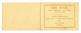 "Visit Card - "" YORK HOUSE "" Terms - FOLKESTONE  (fr65) Y148 - Visiting Cards"