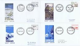 Greenland; 1975 - 1976;  4 FDC (Frimærke Nyt) - FDC