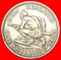 # DRESSED QUEEN: NEW ZEALAND ★ 1 SHILLING 1964! LOW START ★ NO RESERVE! - Nouvelle-Zélande