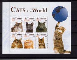 628783390 ST VINCENT 2010  ** MNH SCOTT 3728 CATS - St.Vincent (1979-...)